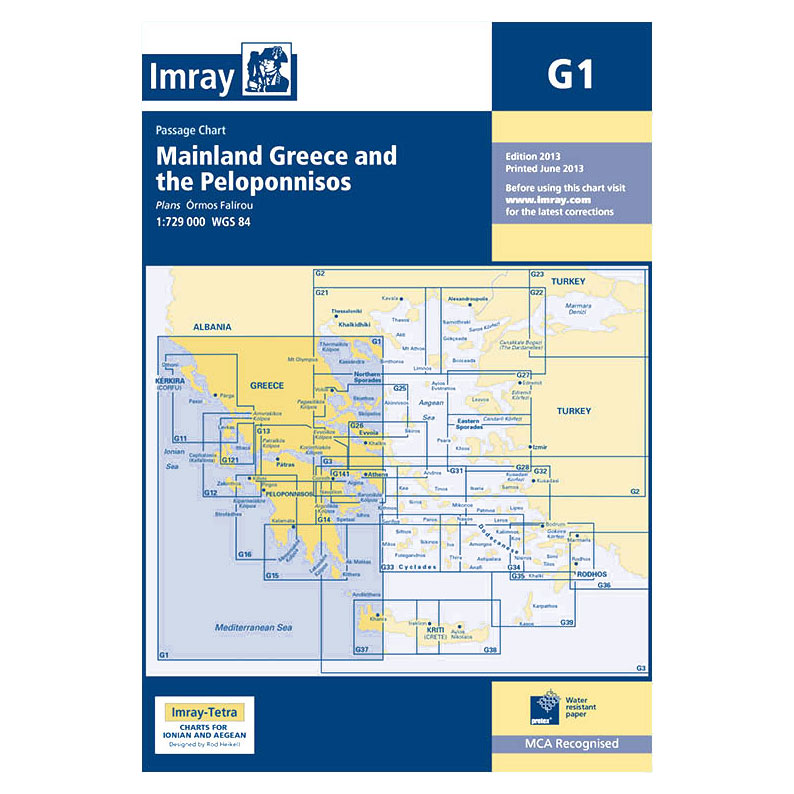 Imray - Charts for the Mediterranean Sea (G and M series)