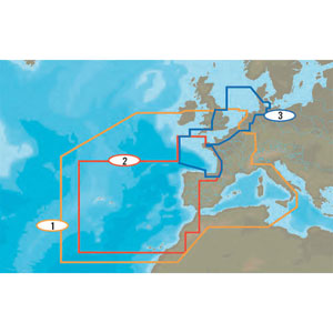 C-Map - West European coasts charts (MAX wide)