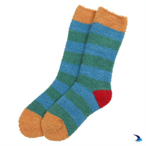 Lazy Jacks - Cosy striped socks in green