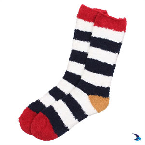 Lazy Jacks - Cosy striped socks in marine