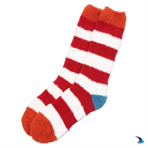 Lazy Jacks - Cosy striped socks in red