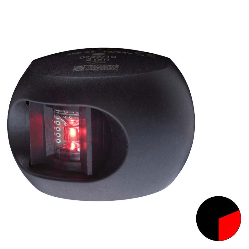 Aqua Signal - Series 34 LED Port Navigation Light (Black Housing)