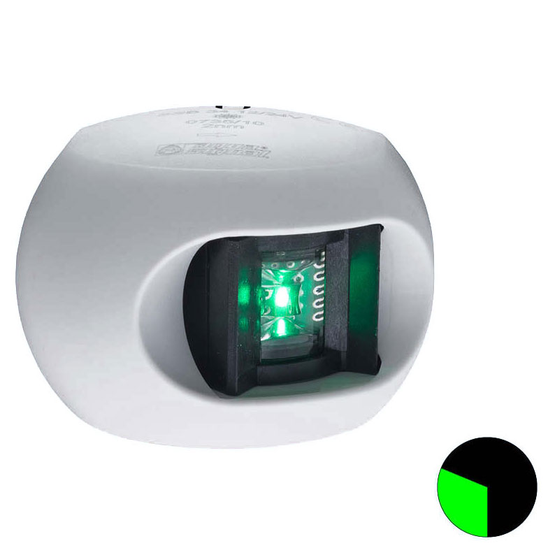 Aqua Signal - Series 34 LED Starboard Navigation Light (White Housing)
