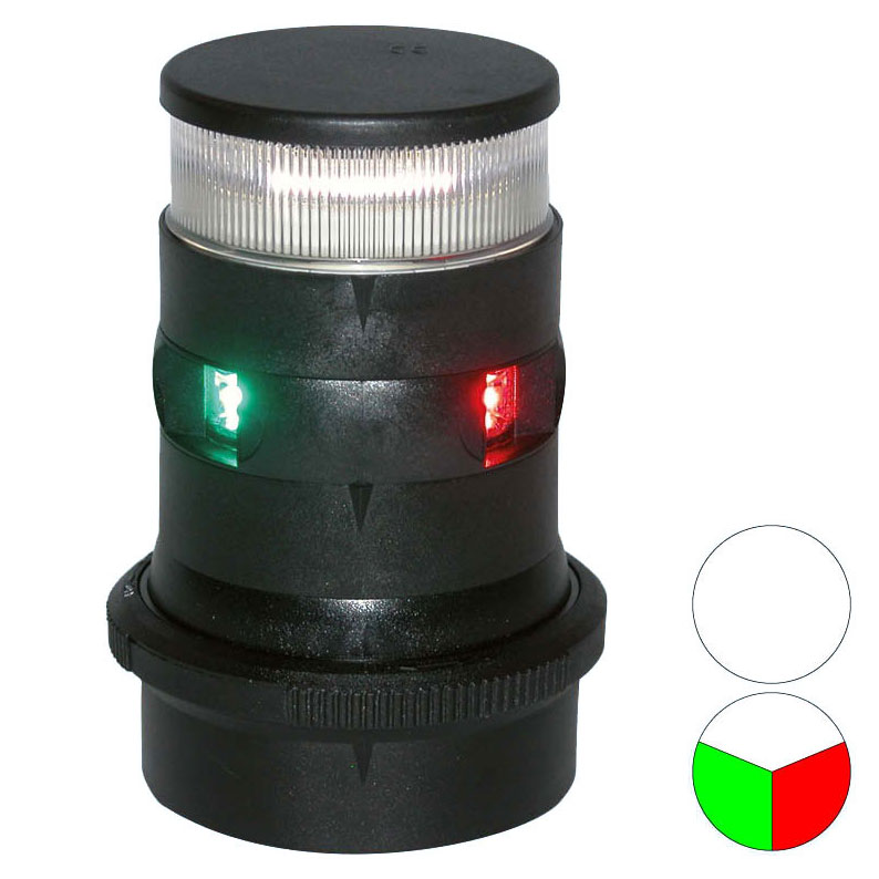 Aqua Signal - Series 34 LED Tri-Colour/Anchor Light (Black Housing)