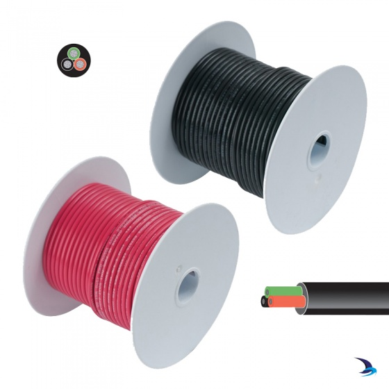 Tinned Cable Three Core Round 1.5mm2 30m Reel