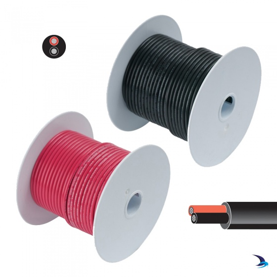 Tinned Cable Two Core Round 1.5mm2 30m Reel