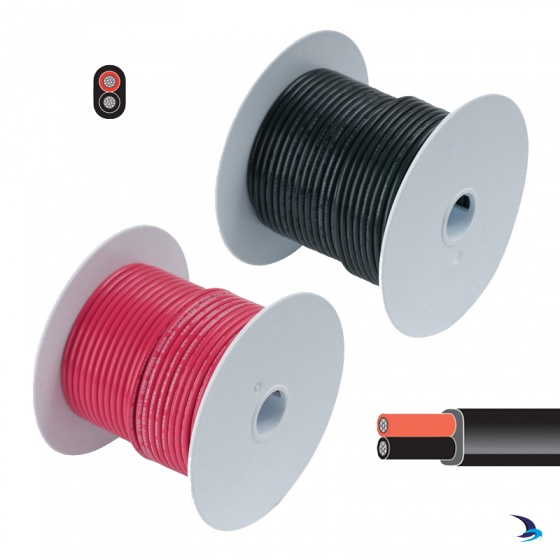 Tinned Cable Two Core Flat 1.5mm2 30m Reel