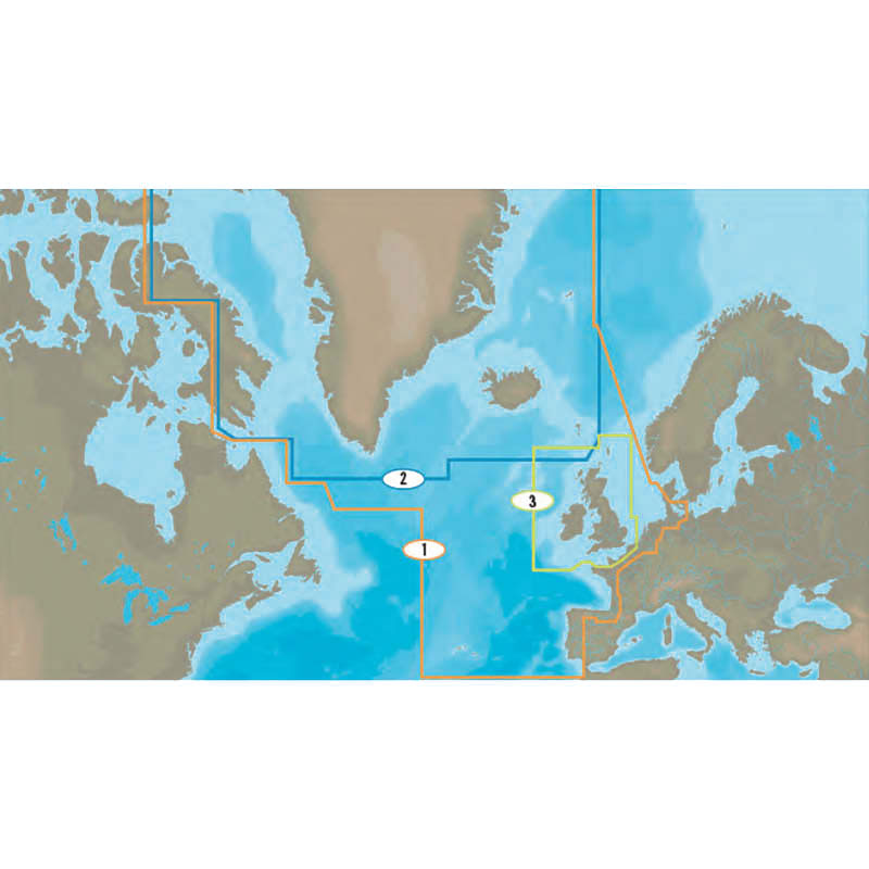 C-Map - Atlantic European coast charts (MAX wide)