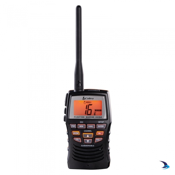 Cobra - HH150 Floating Waterproof Handheld VHF Marine Radio
