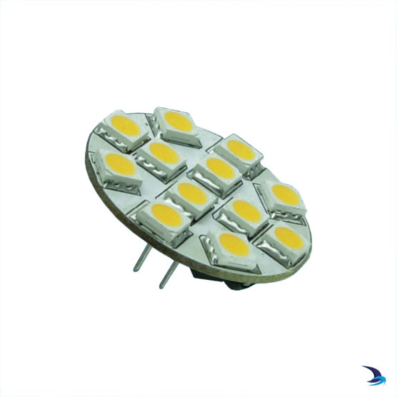 Holt - LED Halogen Replacement Bulb Warm White G4 Rear Pin 12 LEDs