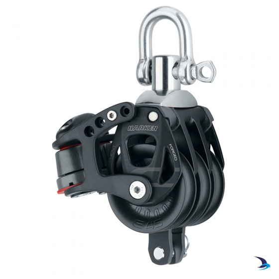 Harken - Element Triple Block with Becket & Cams 45mm