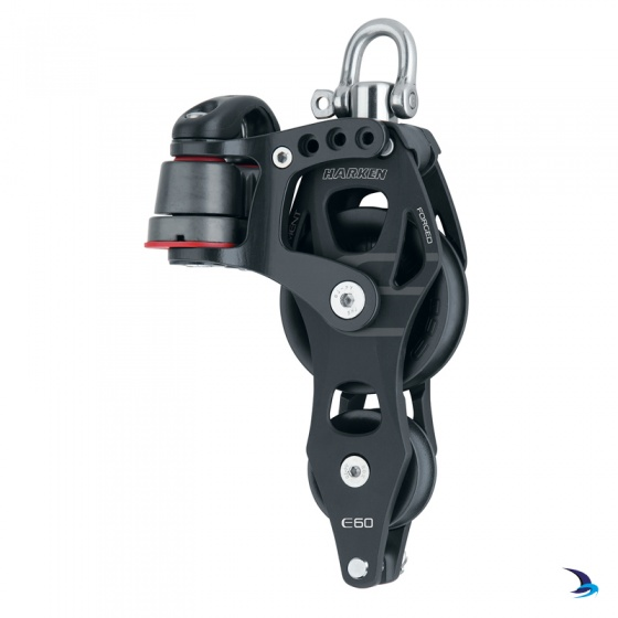 Harken - Element Fiddle Block with Becket and Cam 60mm