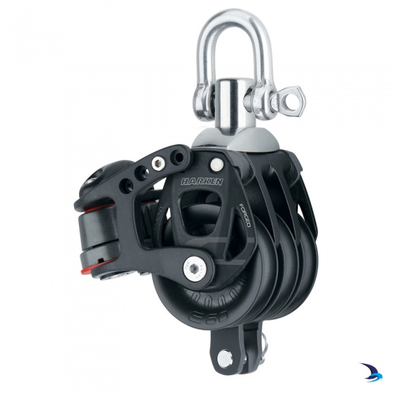 Harken - Element Triple Block with Becket & Cams 60mm