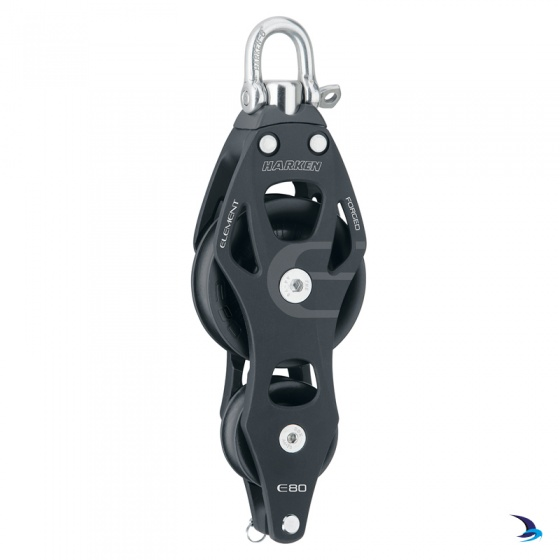 Harken - Element Fiddle Block with Becket 80mm