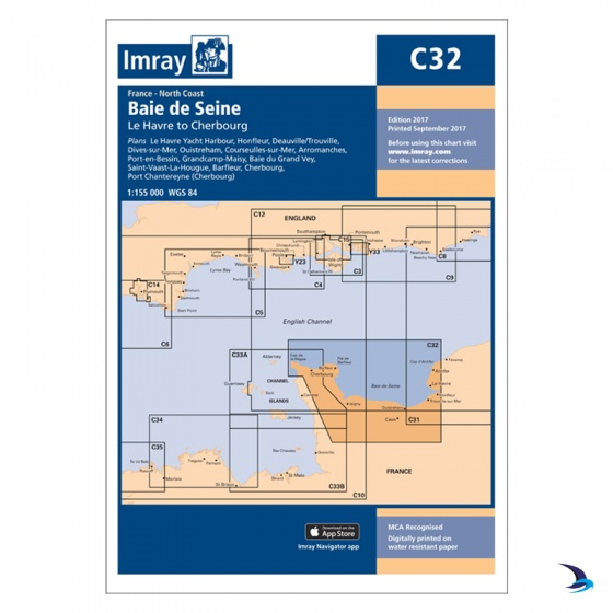 Imray - Chart C32 Baie De Seine - Le Havre to Cherbourg