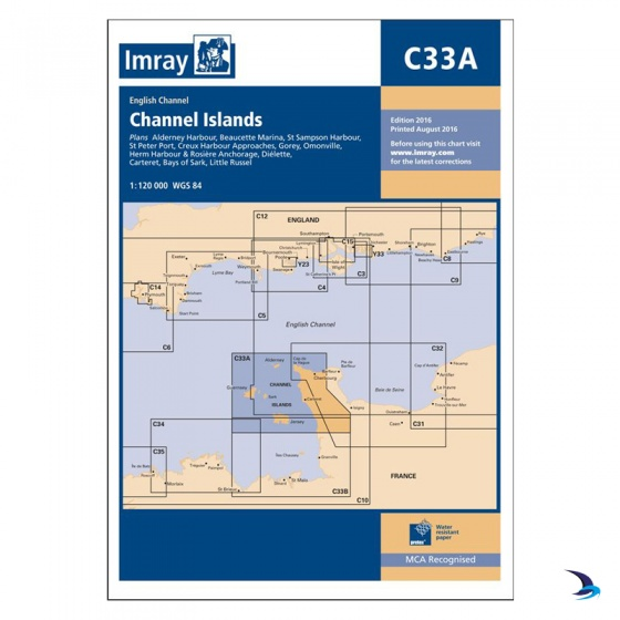 Imray - Chart C33A Channel Islands (North)