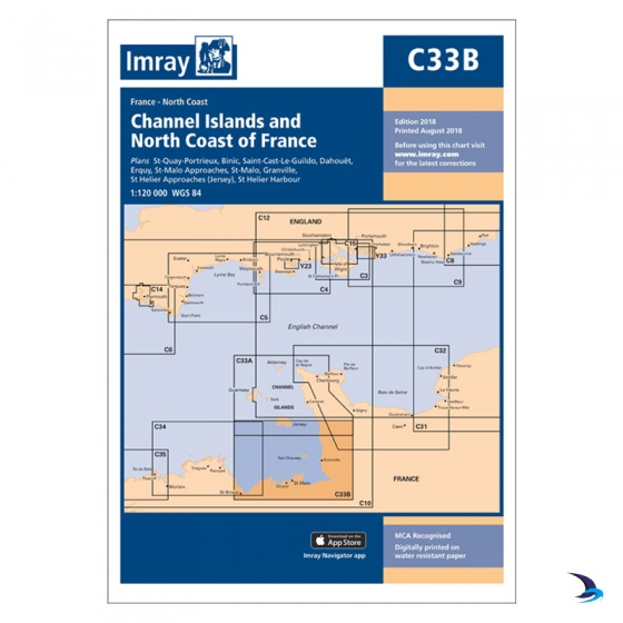 Imray - Chart C33B Channel Islands (South)
