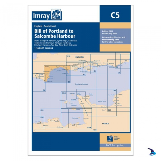 Imray - Chart C5 Bill of Portland to Salcombe Harbour