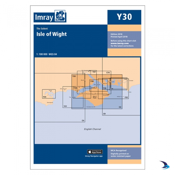 Imray - Chart Y30 Isle of Wight (Small Format)