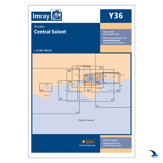 Imray - Chart Y36 Central Solent (Small Format)