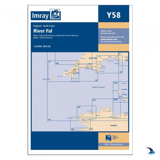 Imray - Chart Y58 River Fal, Falmouth to Truro (Small Format)