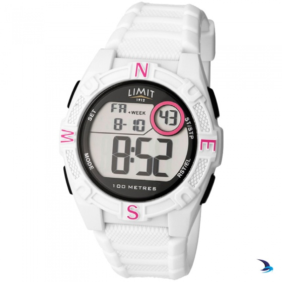 Limit - Countdown Watch, White/Pink