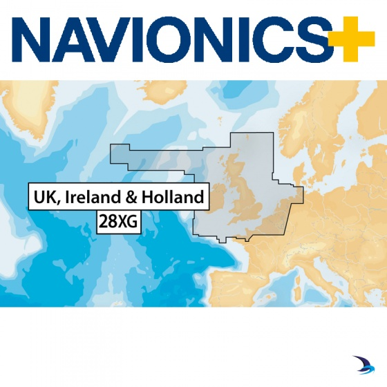 Navionics+ Chart - UK, Ireland & Holland 28XG (Large)