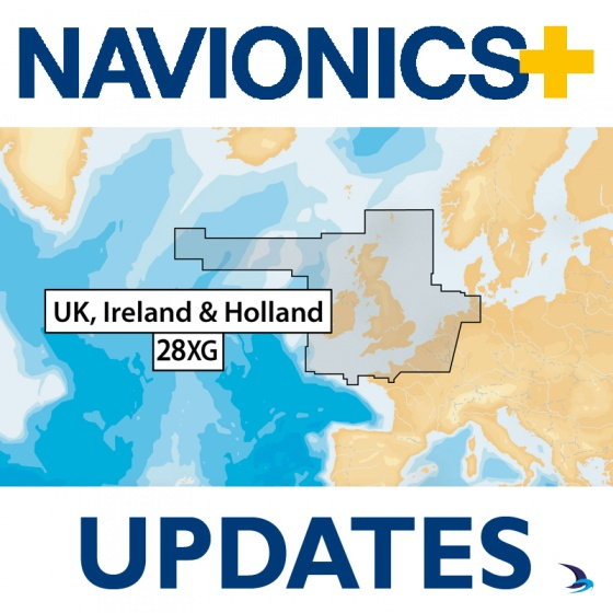 Navionics+ Updates Chart - UK, Ireland & Holland 28XG (Large)