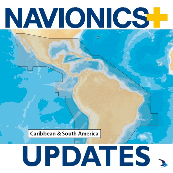 Navionics+ Updates Chart - Caribbean & South America 3XG (Large)