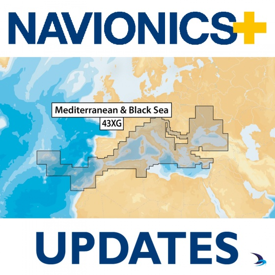 Navionics+ Updates Chart - Mediterranean & Black Sea 43XG (Large)