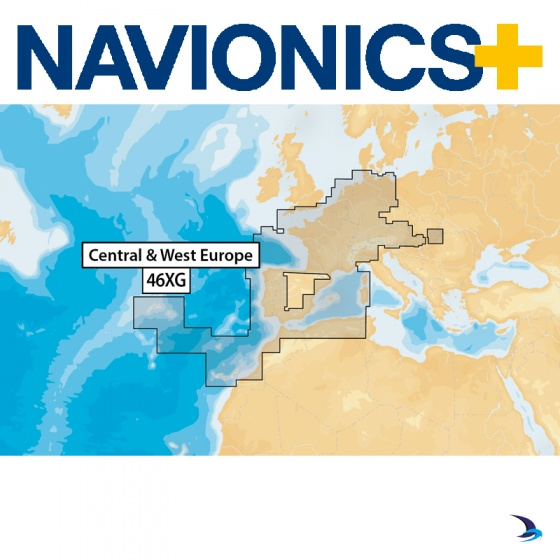 Navionics+ Chart - Central and West Europe 46XG (Large)