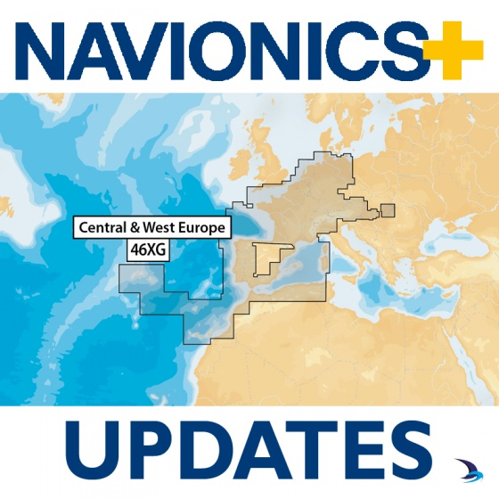 Navionics+ Updates Chart - Central and West Europe 46XG (Large)