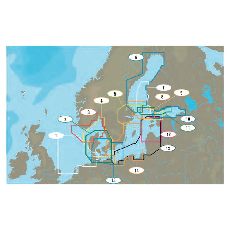 C-Map - North and Baltic Seas (NT+ wide)