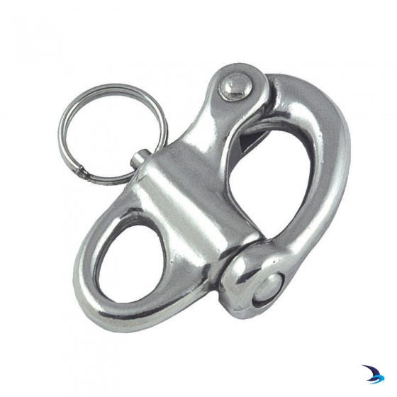 Stainless Steel Snap Shackle With Fixed Eye