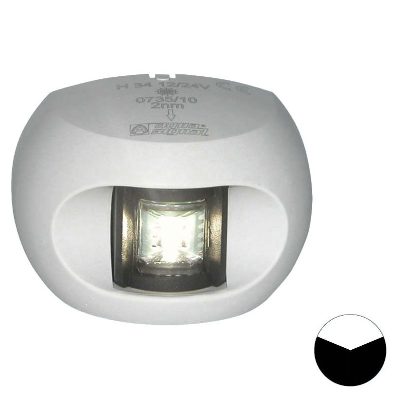 Aqua Signal - Series 34 LED Stern Navigation Light (White Housing)