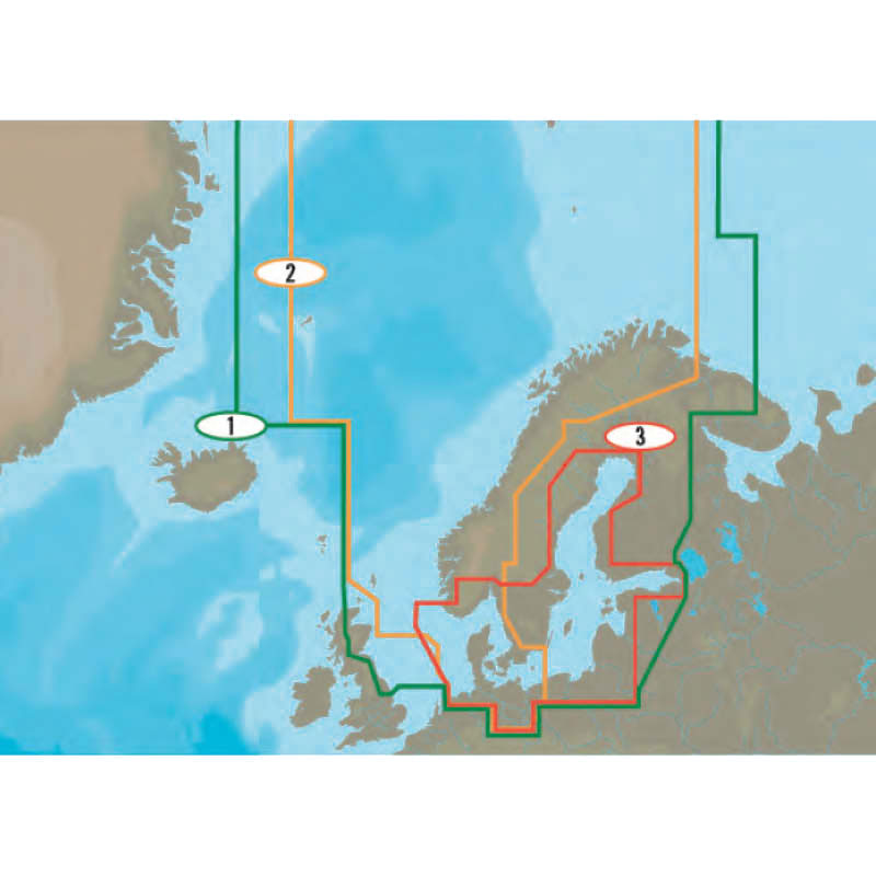 C-MAP - North and Baltic Seas charts (MAX wide)