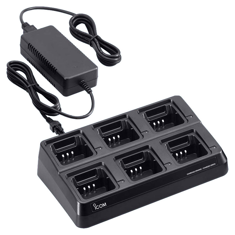 Icom - BC-197 6-way multi charger