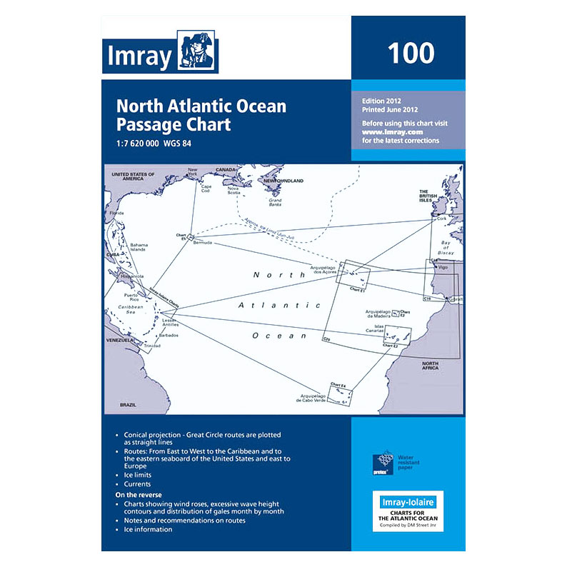 Imray - Charts for the N. Atlantic Ocean (E series)