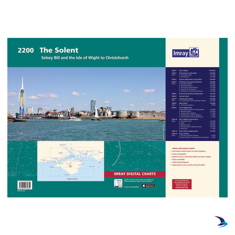 Imray - Chart Folio 2200 The Solent