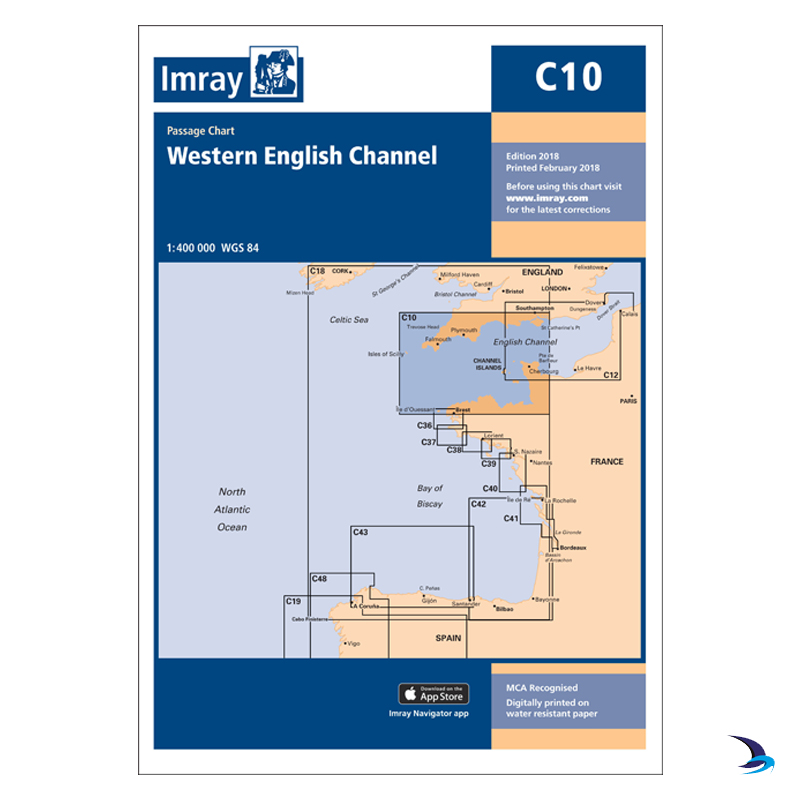 Imray - Chart C10 Western English Channel Passage Chart