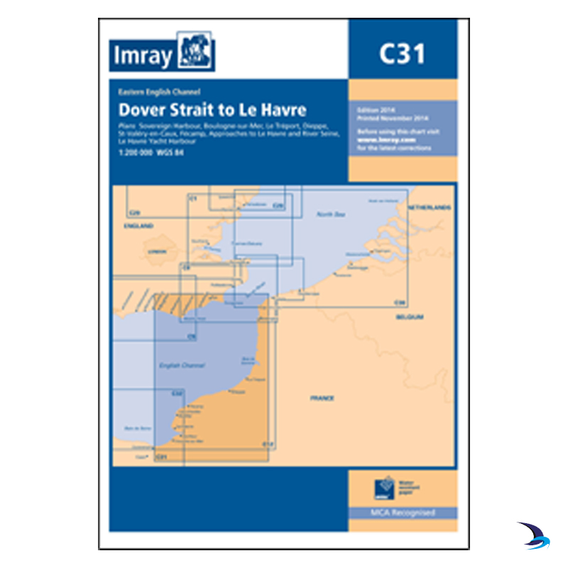 Imray - Chart C31 Dover Strait to Le Havre