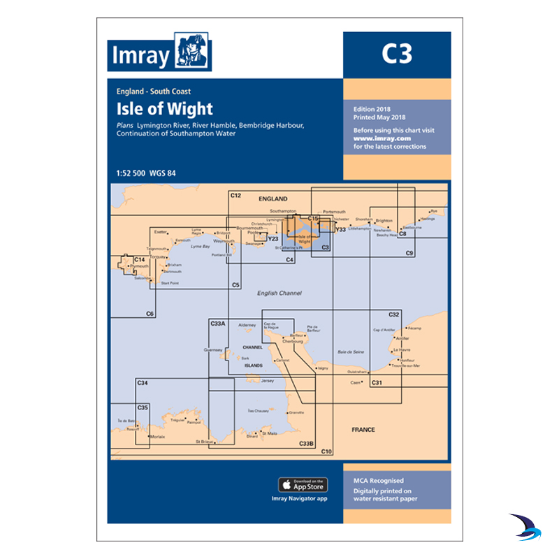 Imray - Chart C3 Isle of Wight