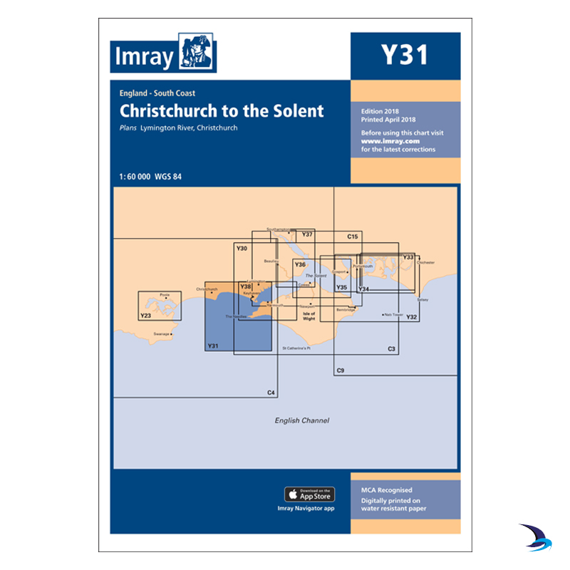 Imray - Chart Y31 Christchurch to the Solent (Small Format)
