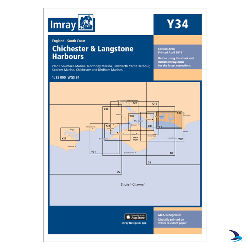 Imray - Chart Y34 Chichester & Langstone Harbours (Small Format)