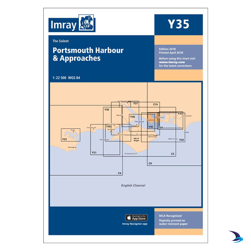 Imray - Chart Y35 Portsmouth Harbour & Approaches (Small Format)