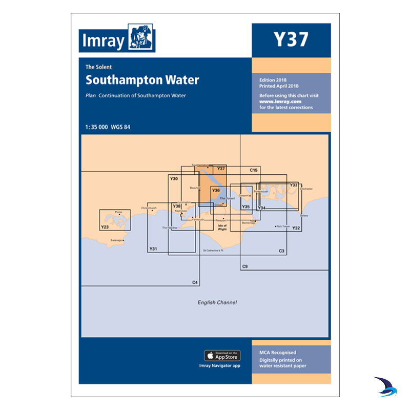 Imray - Chart Y37 Southampton Water (Small Format)