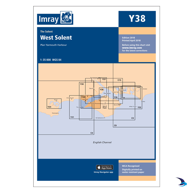 Imray - Chart Y38 West Solent (Small Format)
