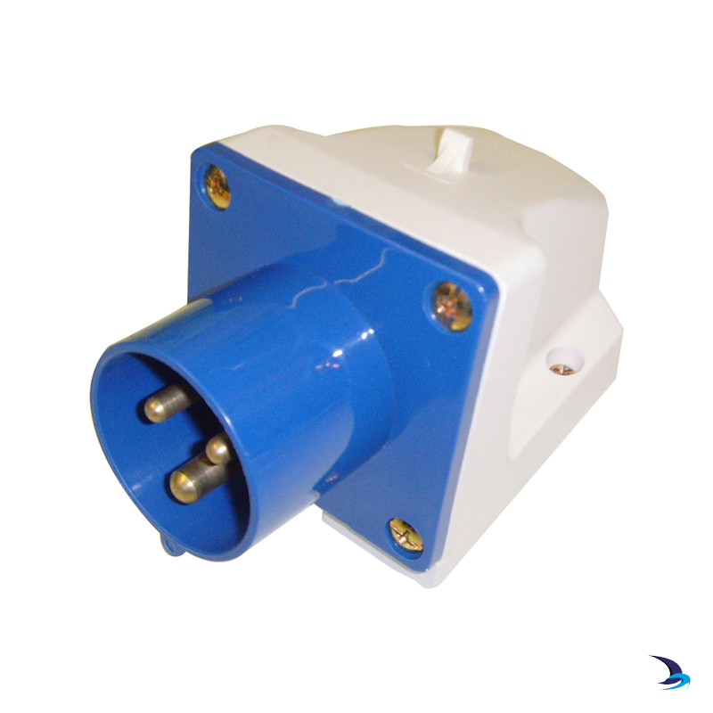 Waveline - Splash Proof Low Profile Shore Power Inlet (Male)
