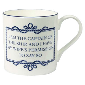 Nauticalia - Campfire mug 'I am the Captain....'